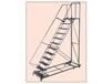 HEAVY DUTY 600 LB. CAPACITY STAIRWAY SLOPE LADDER